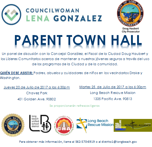 Parent Town Hall Meeting 2017 - Spanish