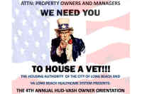 4th Annual HUD-VASH Landlord/Owner Orientation, No Link Attached