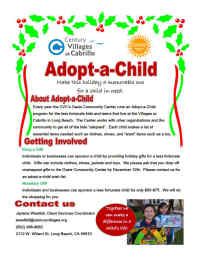 Adopt-a-Child Flyer, No Link Attached