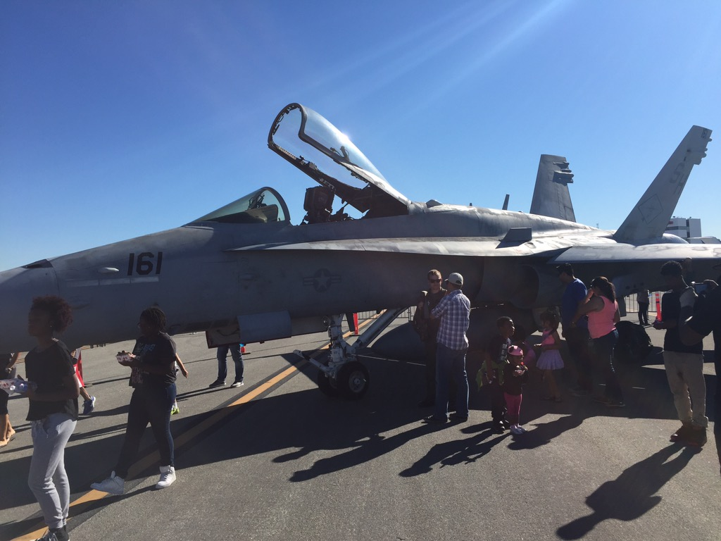 F-18 at Fly-In Stock Image