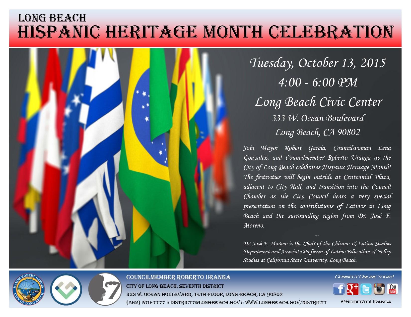 District 7 2015 hispanic heritage month celebration flier aiddatafo Images