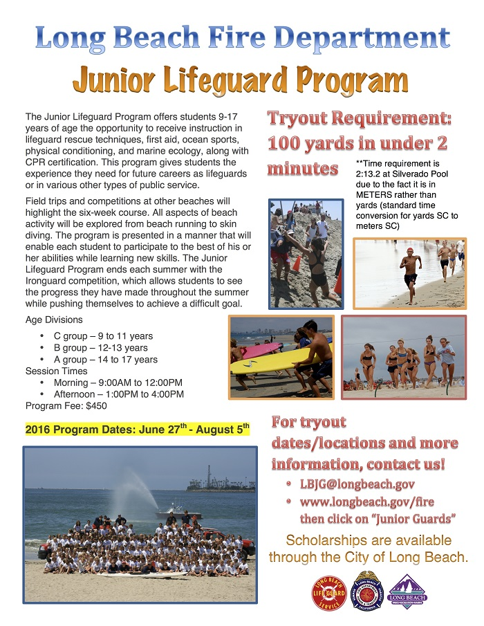 Long Beach Junior Lifeguard Tryouts