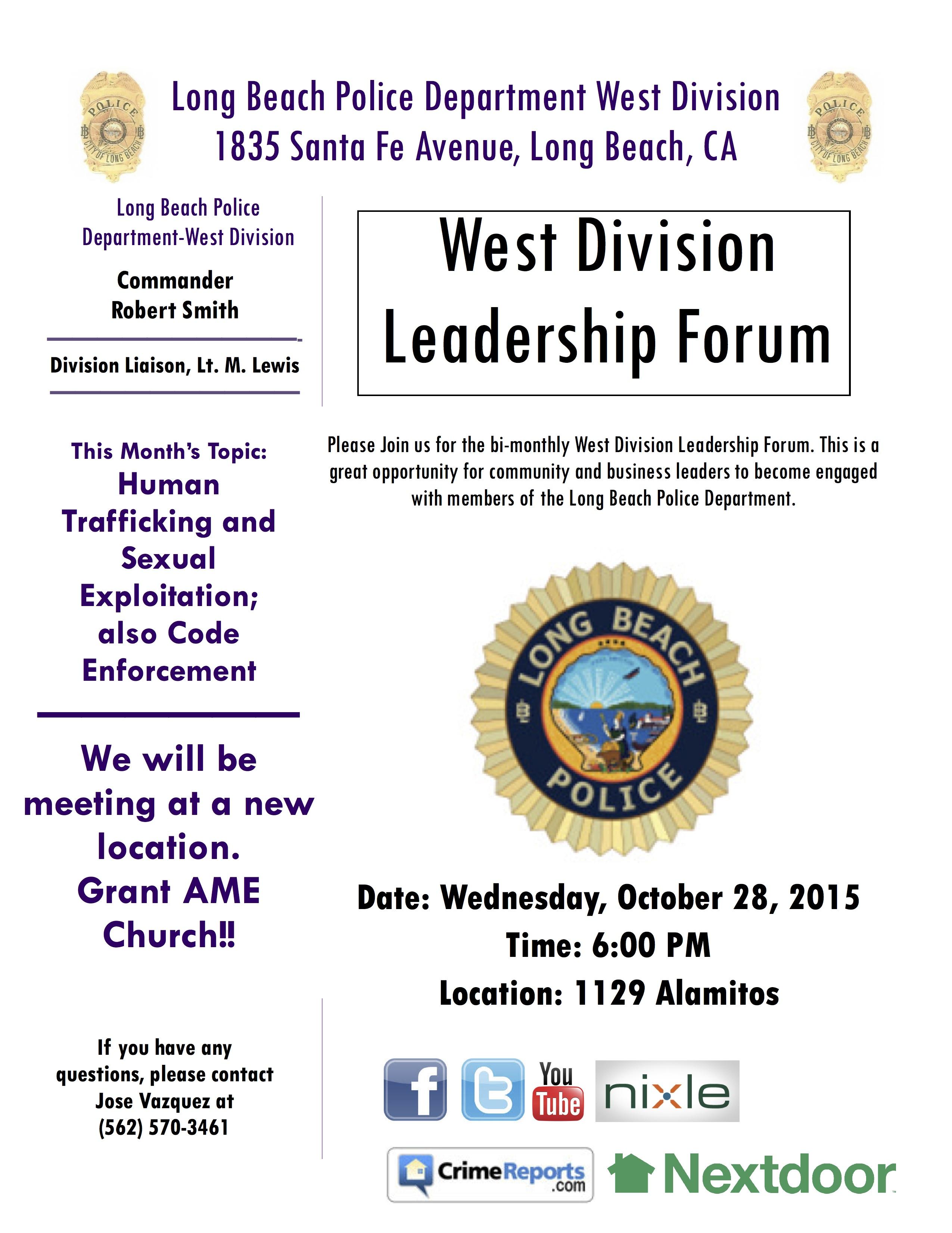 District 7 lbpd west division leadership forum xflitez Image collections