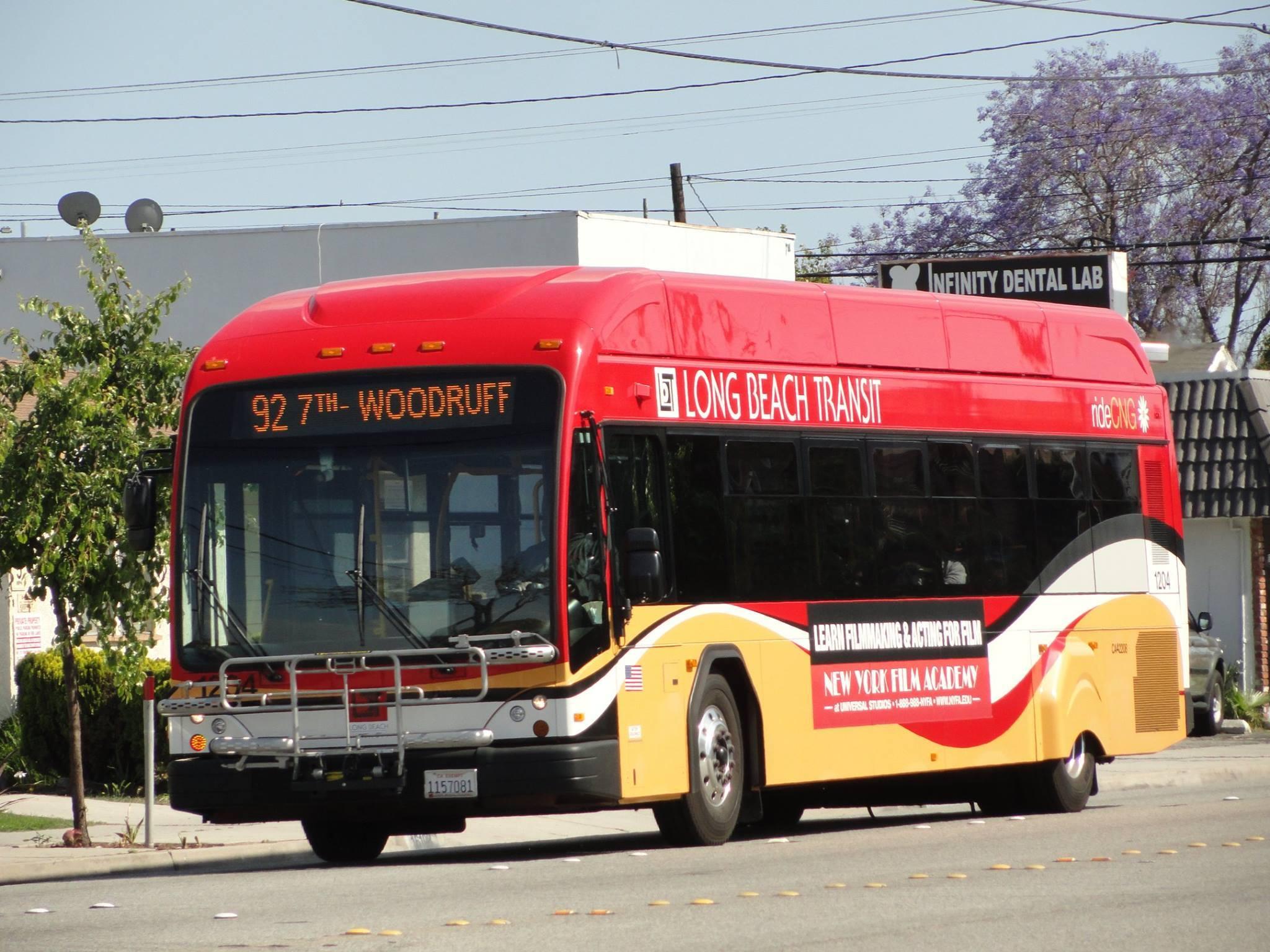 Long beach transit text service long beach transit bus stock image aiddatafo Gallery