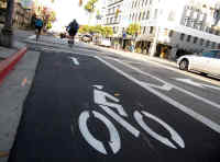 Bike Lane Stock Photo, No Link Attached