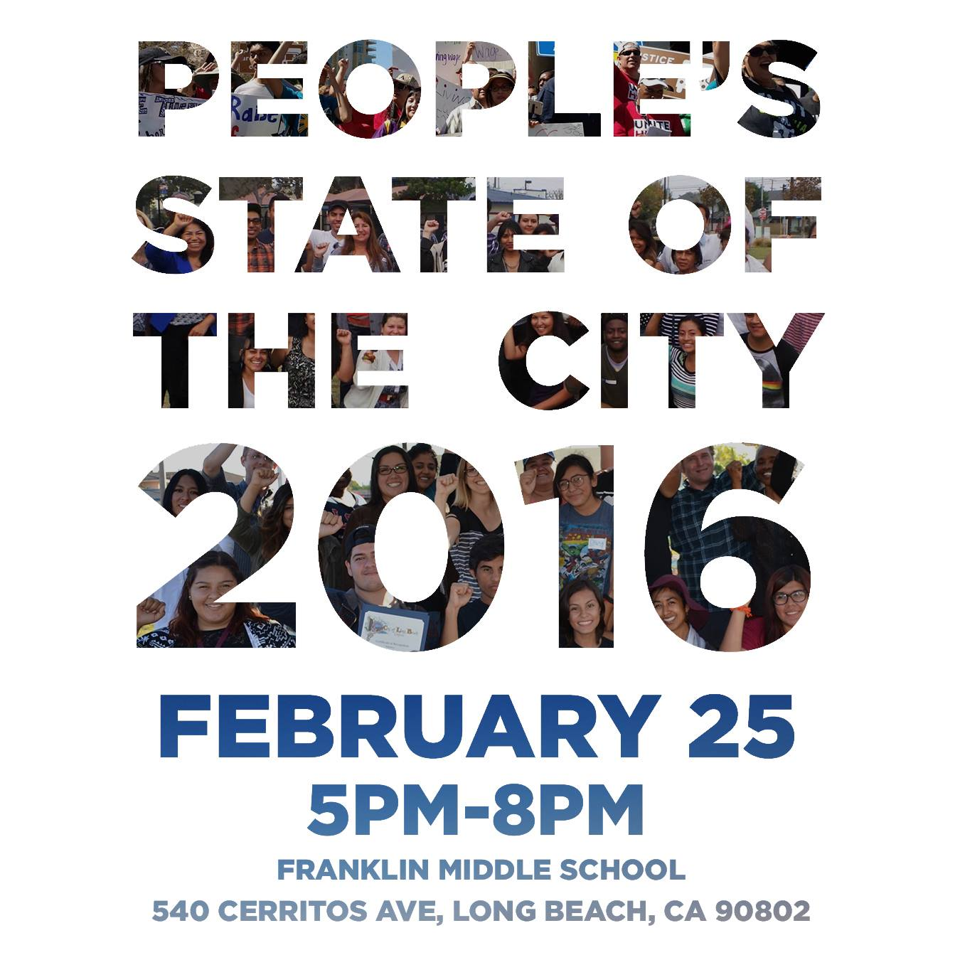People's State of the City 2016 Event Flier