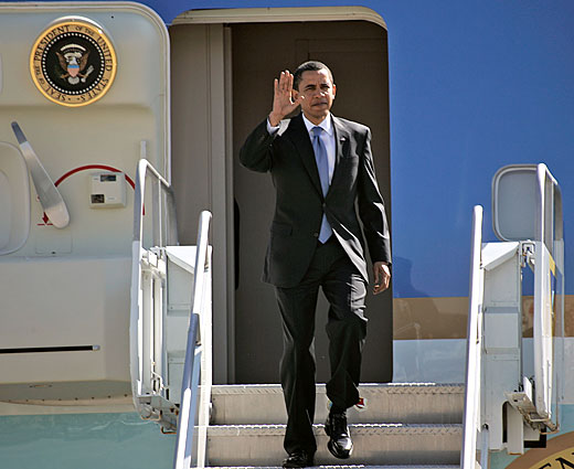 President Obama Stepping Off Air Force One
