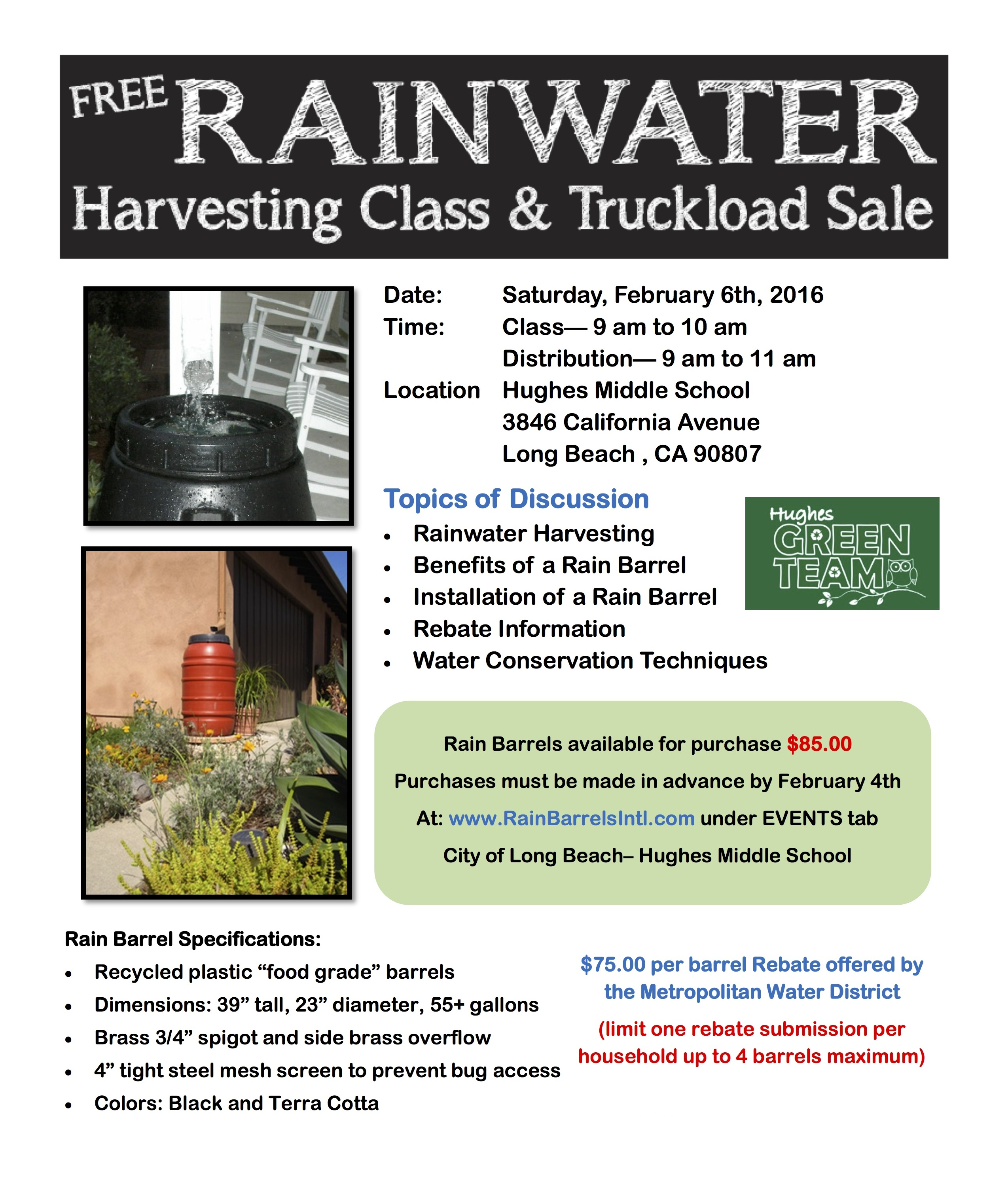 Rainwater harvesting class and truckload sale free rainwater harvesting class truckload sale aiddatafo Images