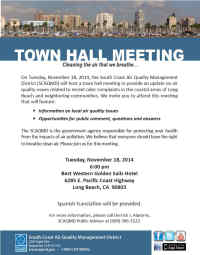 SCAQMD Town Hall Flyer, No Link Attached
