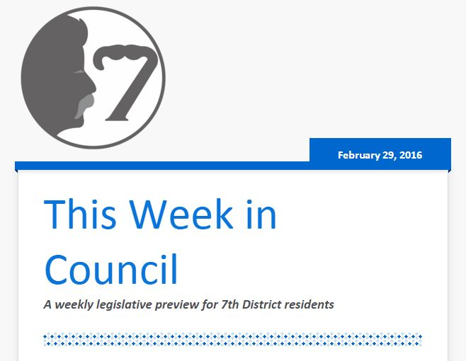 Week in Council 2016.02.29