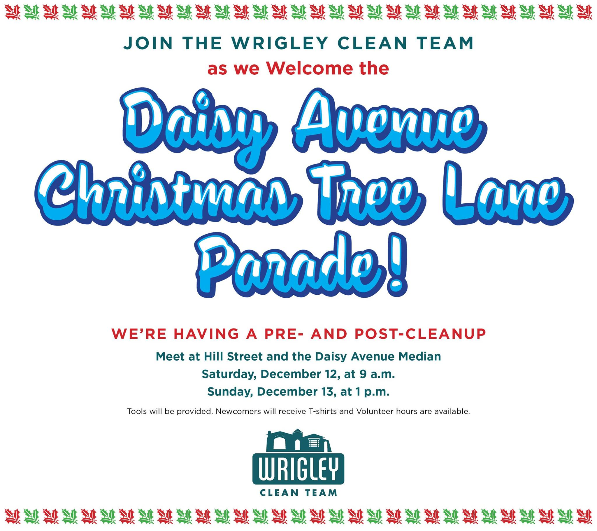 Wrigley Clean Team Daisy Parade Cleanups Flier