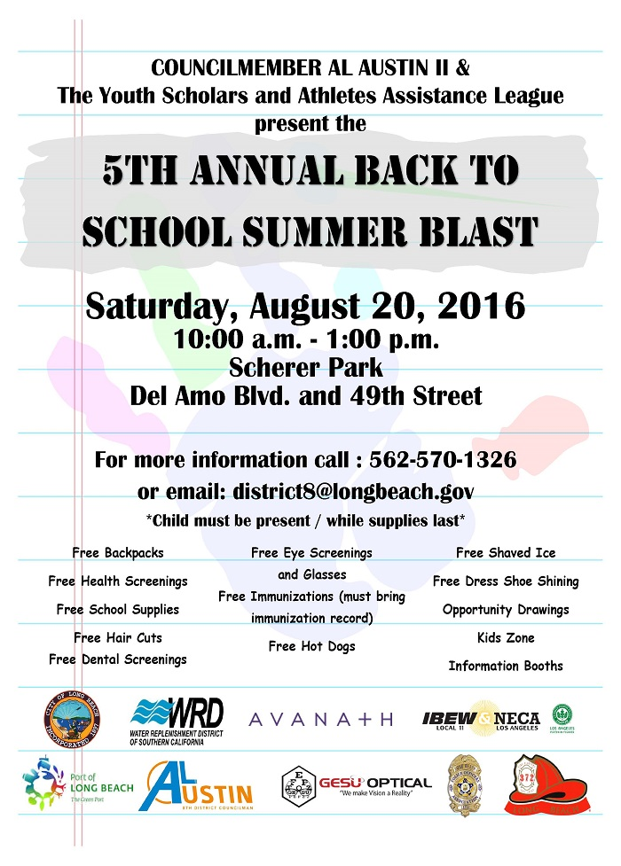 2016 Back to School Blast