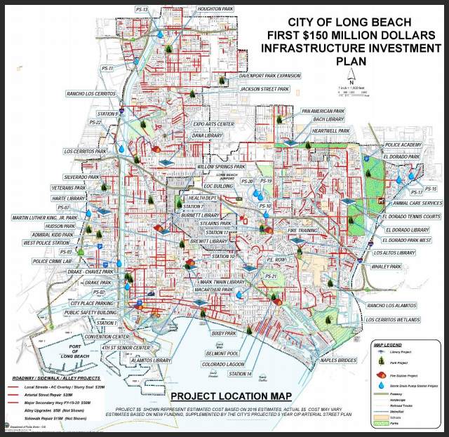 Long Beach Street Sweeping Schedule Map Infrastructure Investment Plan