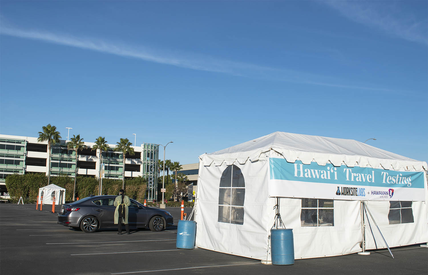 2021 1 12 Covid 19 Testing Site Opens At Long Beach Airport