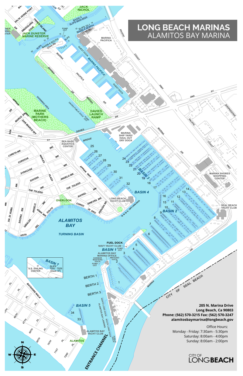 Alamitos Bay Marina Map