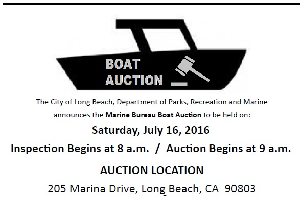 Boat Auction July 16th 2016