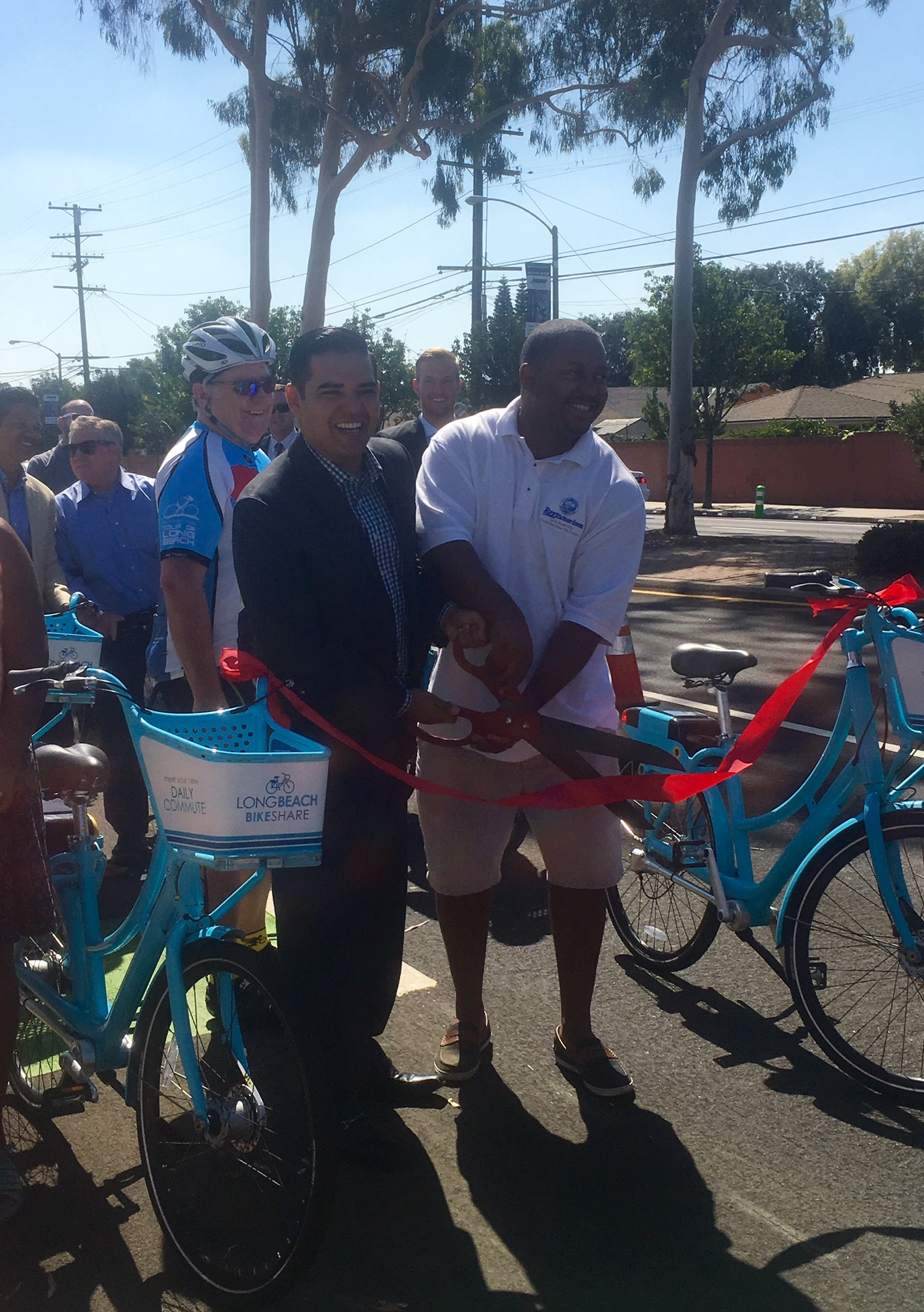Artesia Protected Bike Lane Ribbon Cutting